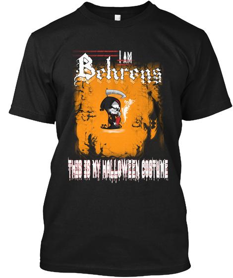 Behrens Halloween Costume Black T-Shirt Front