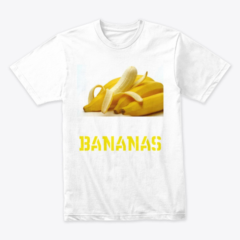 Bananas White T-Shirt Front
