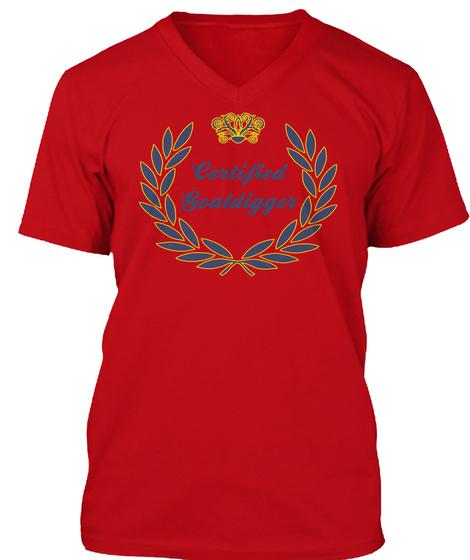 Certified Goaldigger Red T-Shirt Front