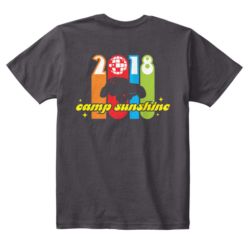 2018 Camp Sunshine Heathered Charcoal  T-Shirt Back