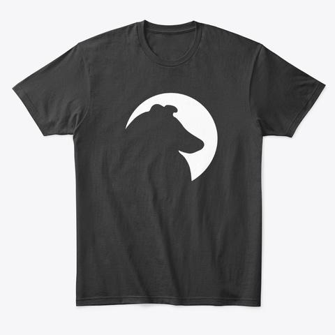 Collie Chatter Rough Collie Logo T Shirt Black T-Shirt Front