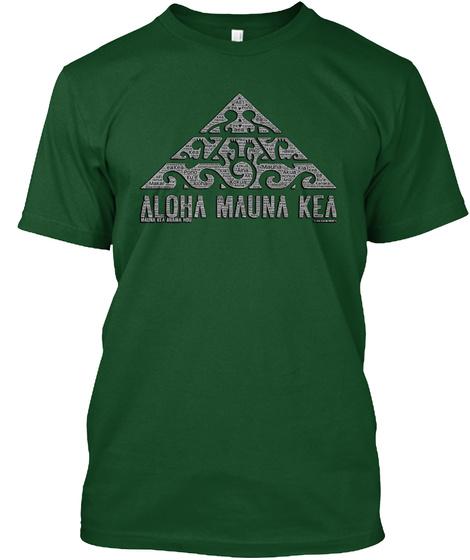 Aloha Mauna Kea Deep Forest T-Shirt Front