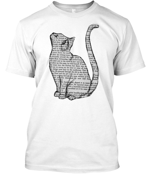 Word Cat White T-Shirt Front