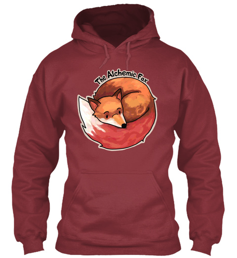 The Alchemic Fax Maroon Sweatshirt Front