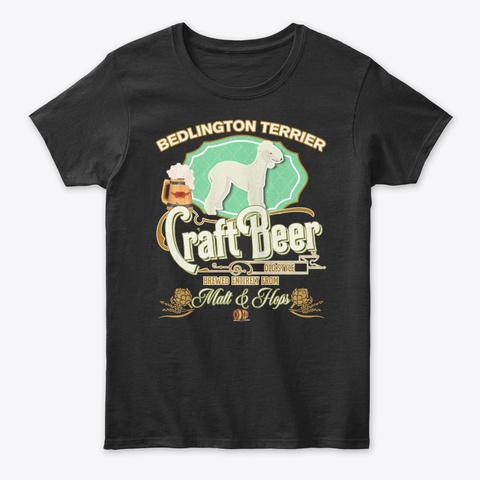 Bedlington Terrier Gifts Black T-Shirt Front