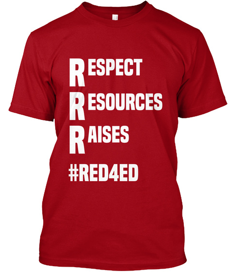 Red For Ed North Tshirt  Limited Edition Deep Red T-Shirt Front