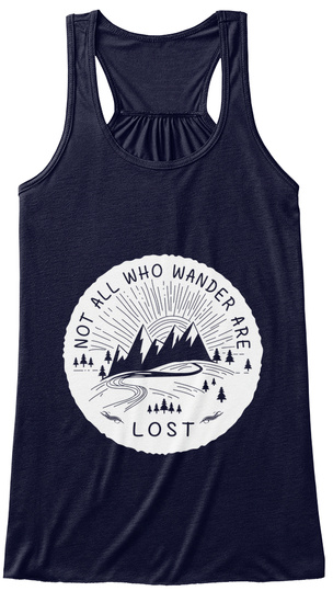 Not All Who Wander Are Lost Midnight Women's Tank Top Front