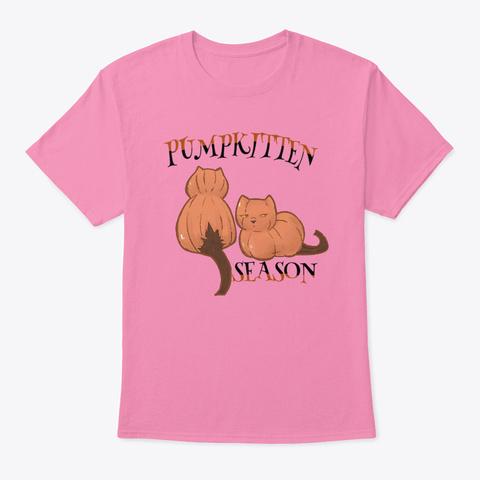 Pumpkitten Season Pink T-Shirt Front