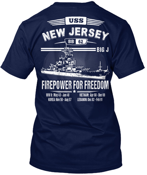 [Ltd. EDITION] USS NEW JERSEY TSHIRT Unisex Tshirt