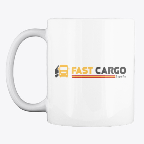Fast Cargo Esp   Mug [White] White T-Shirt Front