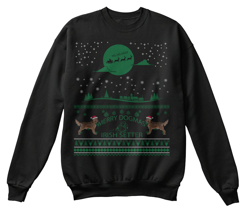 Off-the-rack-Irish-Setter-Ugly-Christmas-Sweater-Sweat-Shirt-Confortable