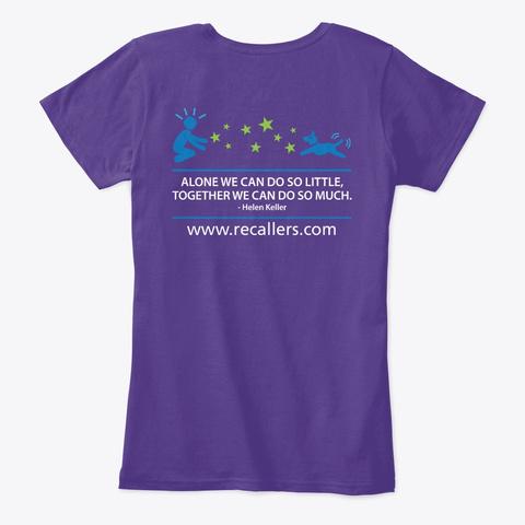 Recallers Hoodies, Tees And Mugs Purple T-Shirt Back
