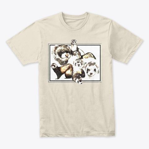 7 Cute Ferrets Cream T-Shirt Front