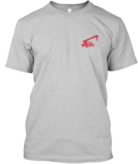 Awesome Crane Operator Shirt Light Steel T-Shirt Front