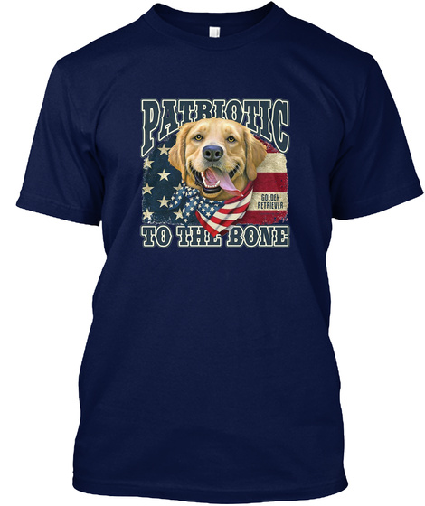 Patriotic To The Bone Navy T-Shirt Front