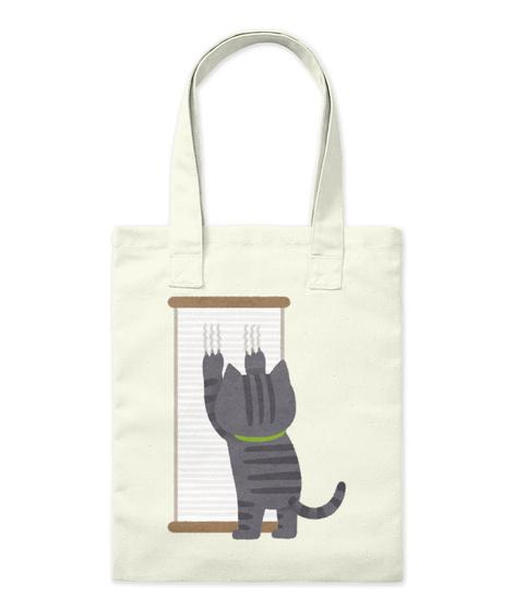 Cat Scratching (Kitten Nail Trim) Natural Tote Bag Front