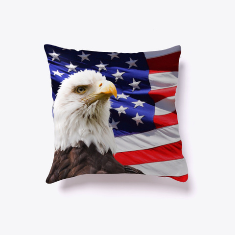 American Flag Eagle Pillow Covers  Standard T-Shirt Front