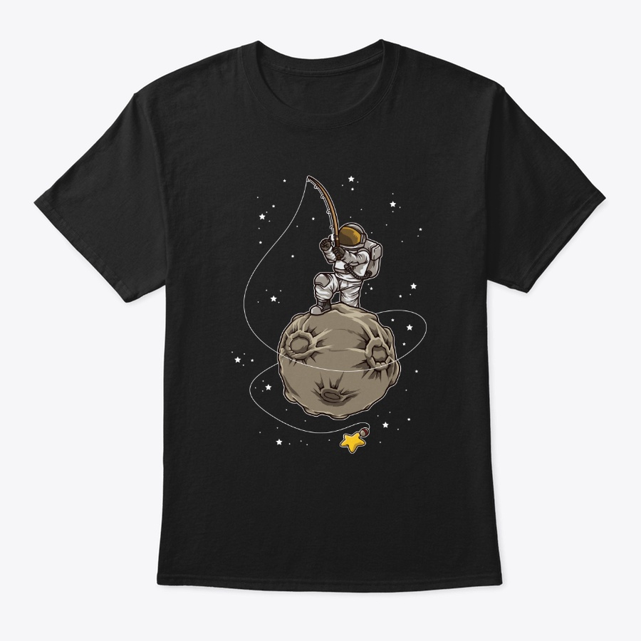 Astronaut Fishing Stars Galaxy Milky Unisex Tshirt