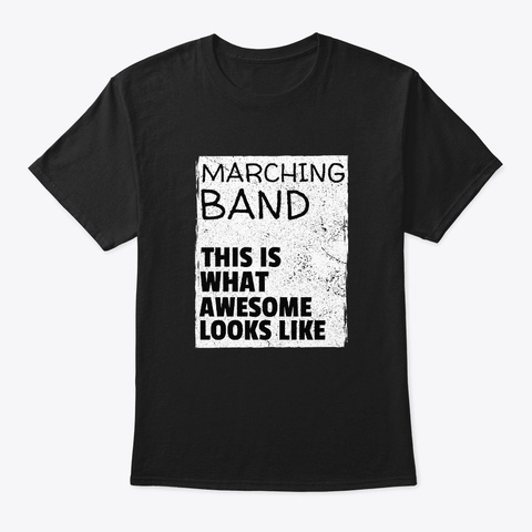 [$15+] Marching Band   Awesome Black T-Shirt Front