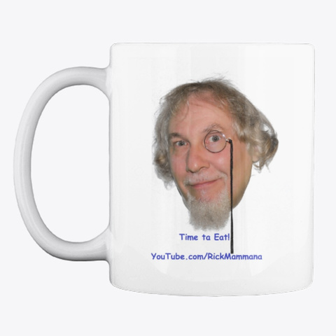 Time Ta Eat Mug White T-Shirt Front