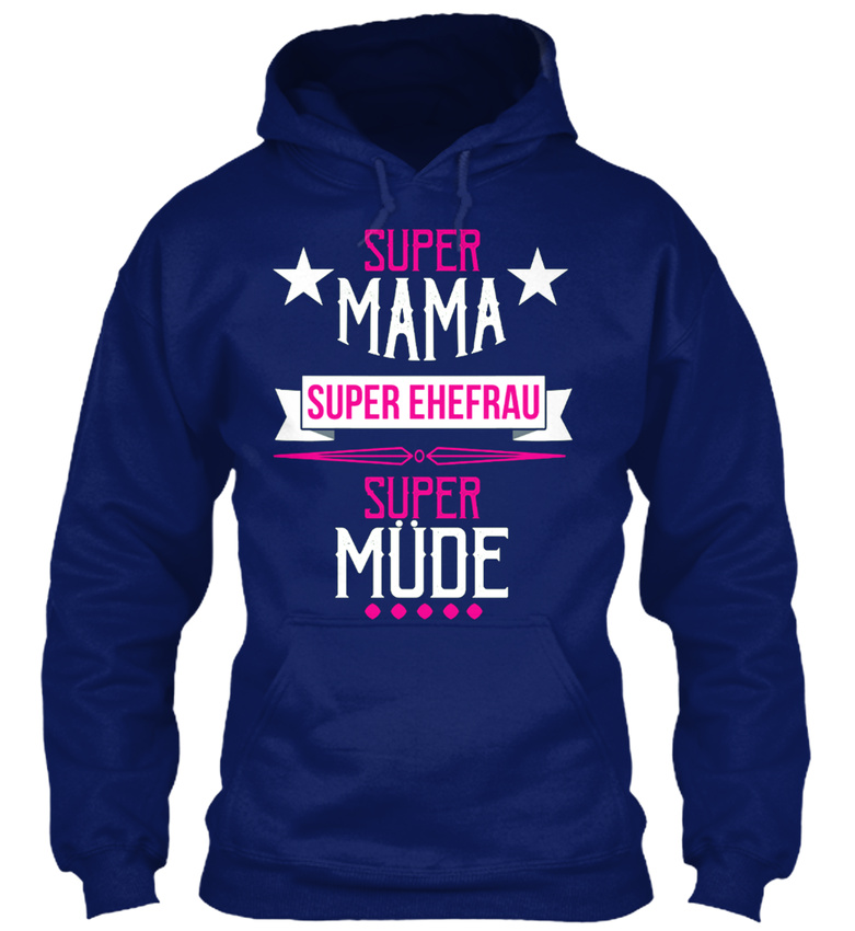 Mama-Ehefrau-Super-MUde-Sweat-a-Capuche-Confortable