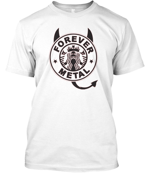 Forever Metal White T-Shirt Front