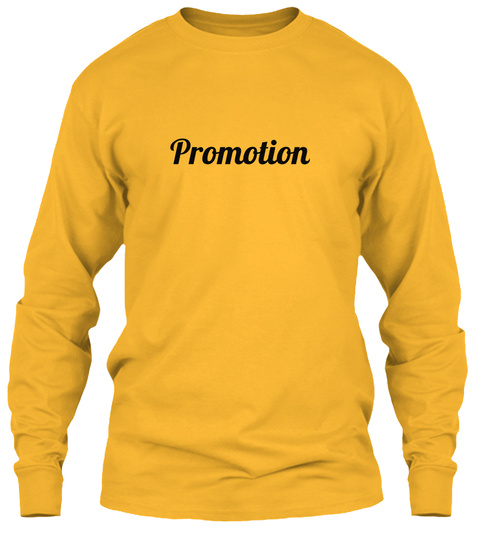 Promotion Gold T-Shirt Front