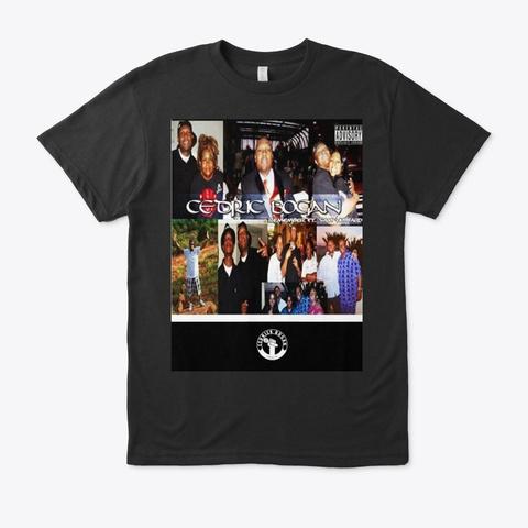 Cedrick Bogan Cover Art Black T-Shirt Front