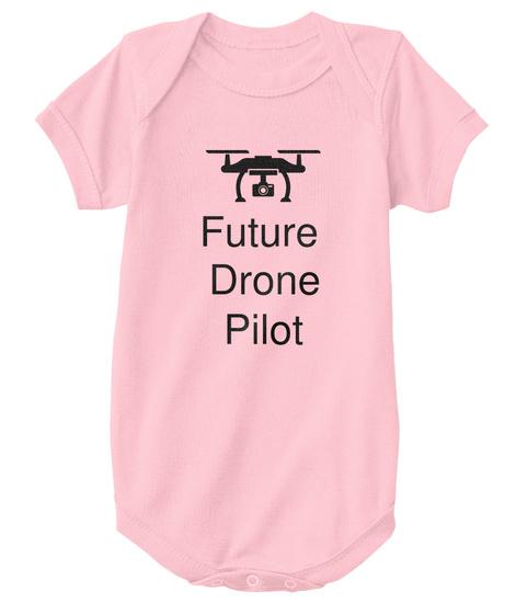 Future  Drone Pilot Pink T-Shirt Front