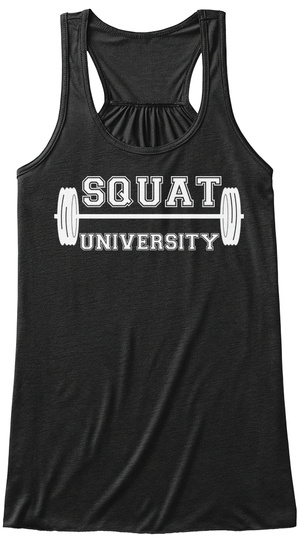 Squat University Black T-Shirt Front