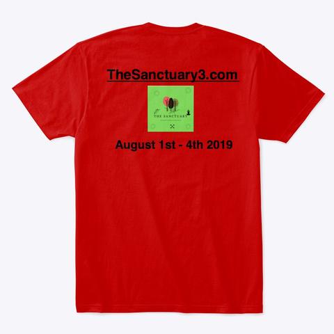 The Sanctuary3.Com Classic Red T-Shirt Back