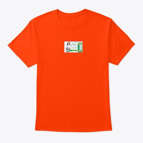 Ever Strong Xt Tincture Cbd Hemp Oil Orange T-Shirt Front