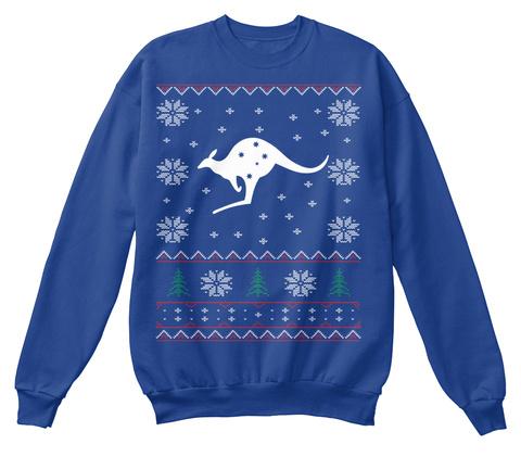 Love Australia ( Christmas) Royal Blue Sweatshirt Front