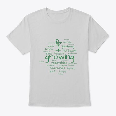 Off Grid Farming Yurt Life Backyard Light Steel T-Shirt Front