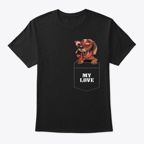 My Love Black T-Shirt Front