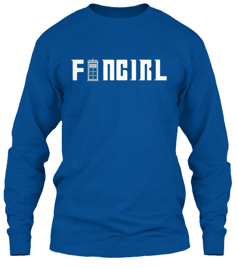 Doctor Fangirl Long Sleeves Royal Long Sleeve T-Shirt Front