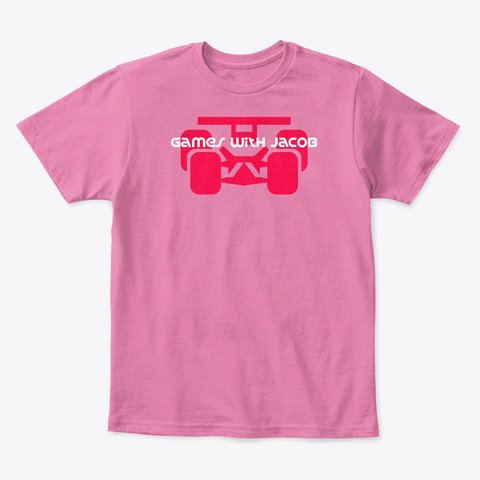 Toy Race Car True Pink  T-Shirt Front