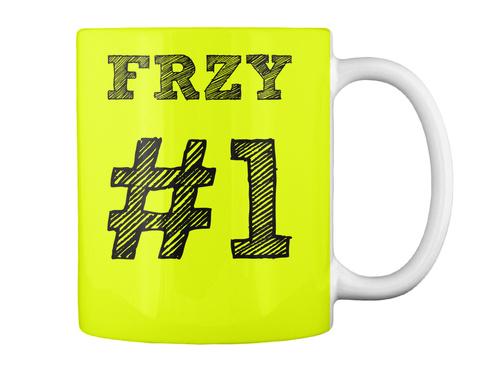 Frzy #1 Neon Yellow Mug Back