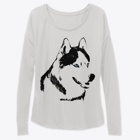 Husky Dog Shirts  Gifts And  Decor Athletic Heather T-Shirt Front