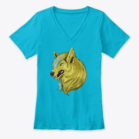 Kara T Shirt Turquoise T-Shirt Front