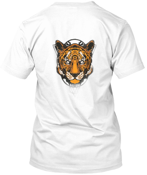 Tiger All Round White T-Shirt Back