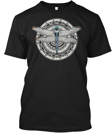 Dragonfly Art 03 Black T-Shirt Front