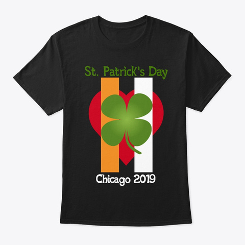 St. Patrick's Day Parade 2019 Black T-Shirt Front