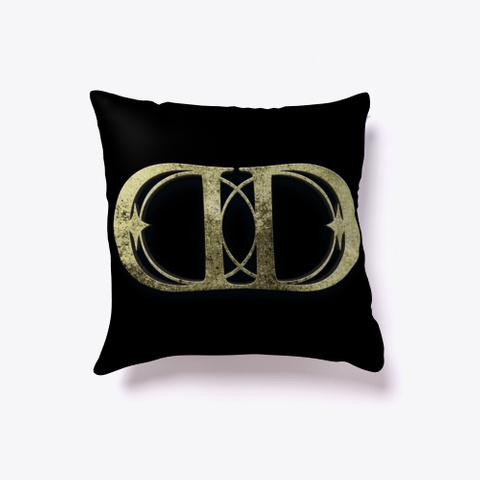 Daniel Dalley   Art Deco Pillow Emblem Black T-Shirt Back