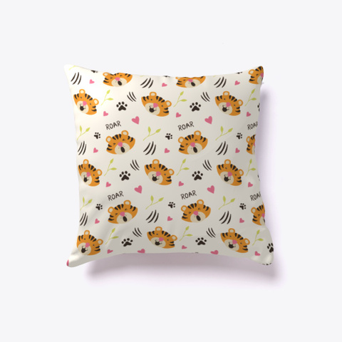 Cute Tiger Pillow Standard T-Shirt Back