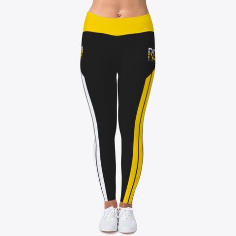 Rebo Ii Obe Gold Two Tone Leggings Black T-Shirt Front