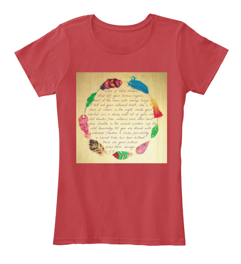 Wild Women Circle Blessing T's &Amp; Sweats Classic Red T-Shirt Front
