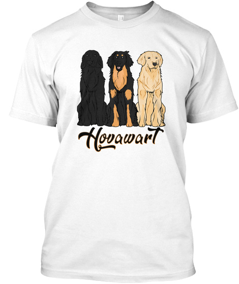 Hovawart White T-Shirt Front