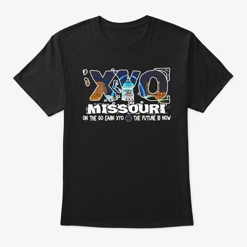 Xyo Missouri Design Black T-Shirt Front