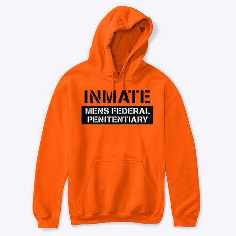 Inmate Mens Halloween Costume Safety Orange T-Shirt Front